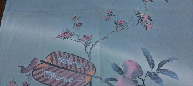 加賀の袱紗、布地は江戸ちり…明治位
