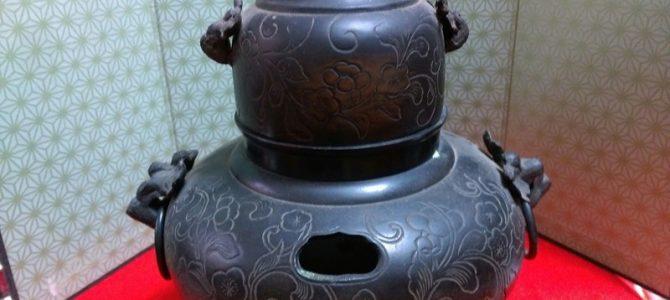 珍しい、丁字風炉