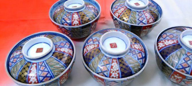 大聖寺伊万里の蓋茶碗…九谷とは違った高級感
