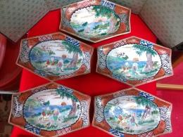 九谷焼庄三六角皿、九谷の色とは…