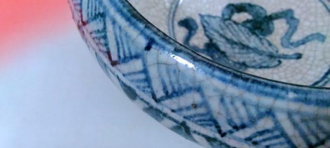 古手の九谷焼の鉢