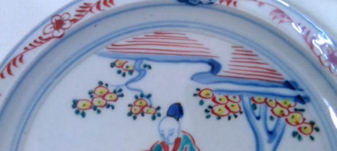取皿にぴったり、九谷焼の楽しいお皿
