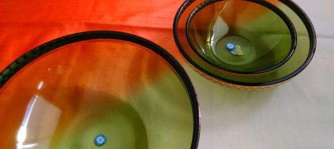 昭和レトロな三組ガラスボール