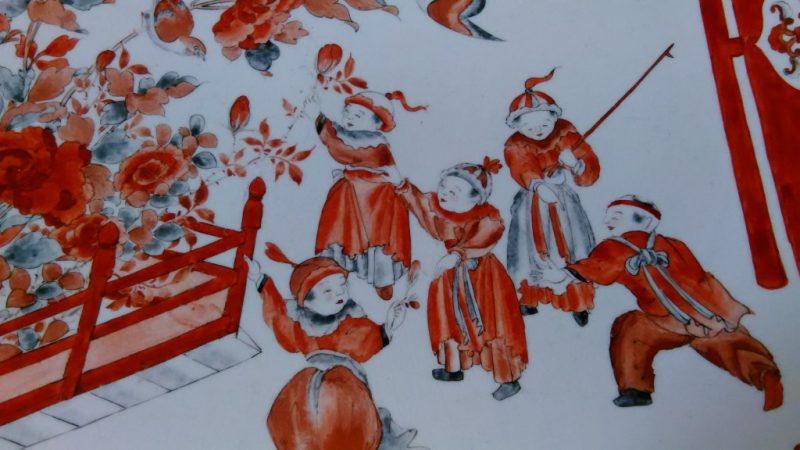九谷焼赤絵大皿2