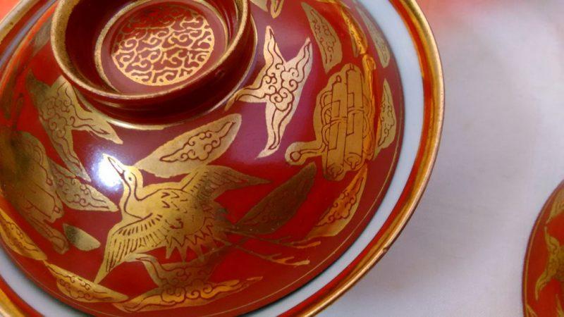 九谷永楽蓋茶碗