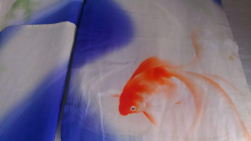 金魚の夏の子供の着物