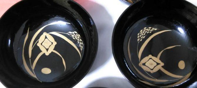 豊年満作、時代蒔絵の煮物椀