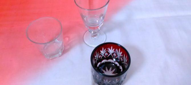 日本製の小さなグラス、大正から昭和の物
