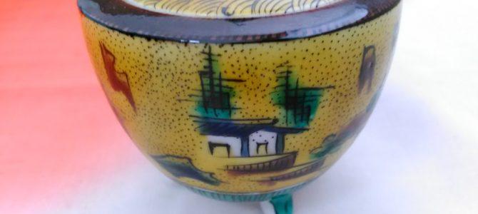 金沢から東京…品物は青手九谷の香炉