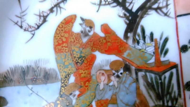 九谷焼面白絵皿