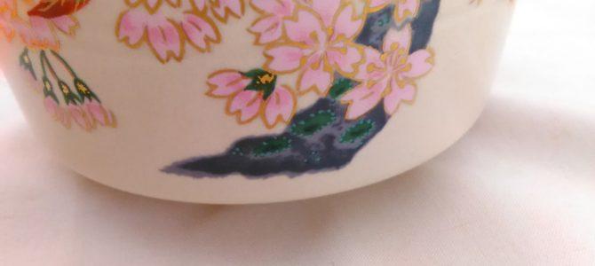 桜満開抹茶茶碗、椿も!