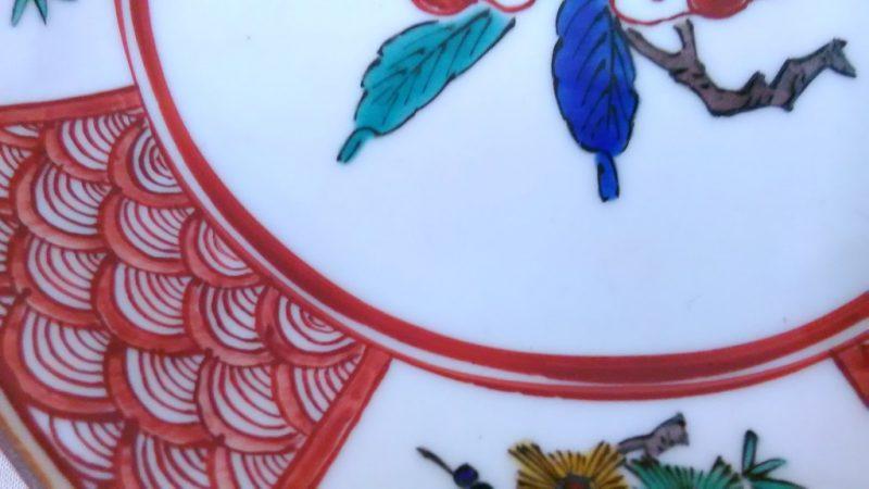 九谷焼青吉八角形飾り皿