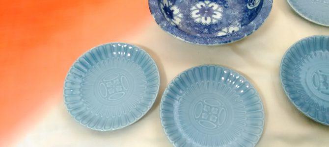 暑い夏に涼しげに…印判の鉢、コバルトブルー