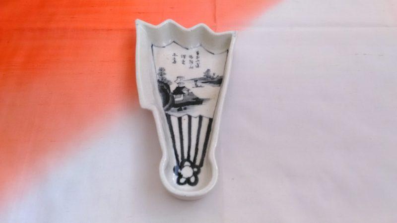 変わった形のお皿扇型