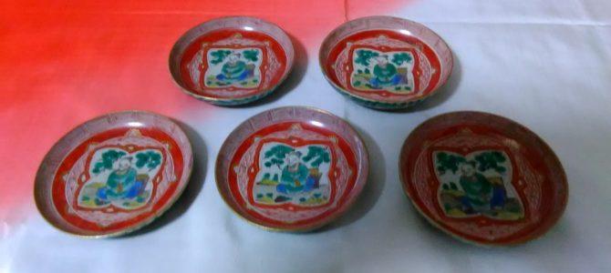 冬の金沢に合います…九谷焼小皿、幕末位