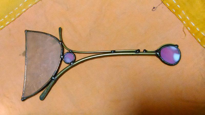 西洋アンティークの手鏡