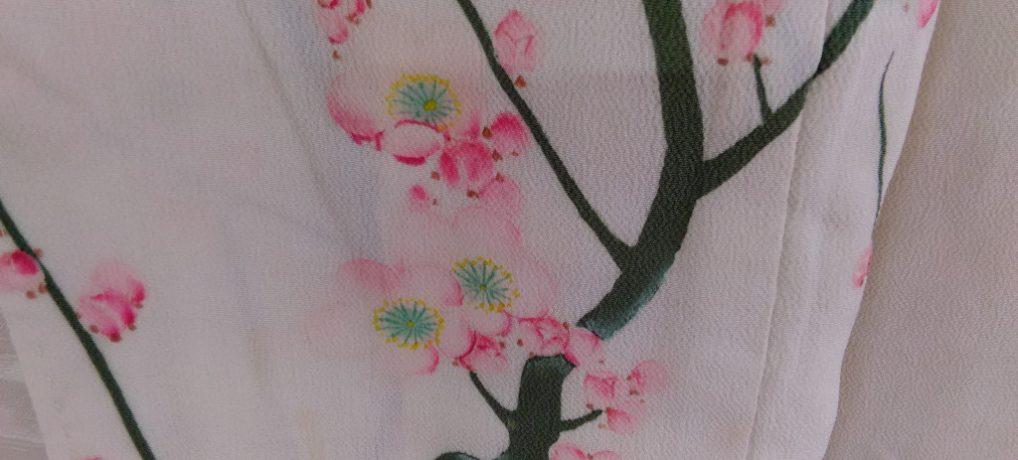 とても珍しい白い錦紗留袖