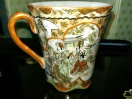 九谷焼コーヒーカップ1