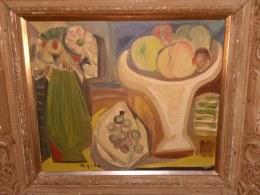 フルーツと花絵