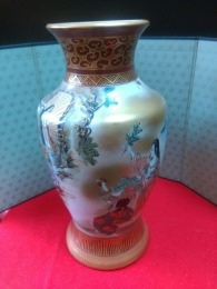 九谷焼花瓶全体