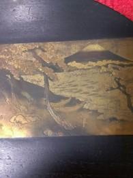 桐板塗り物銅板富士