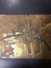 桐板塗り物銅板梅