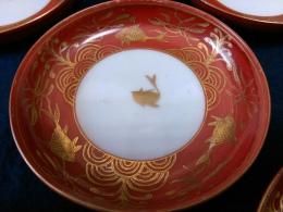 九谷焼永楽小皿金魚