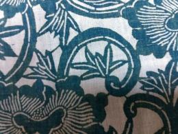 型染め緑古布
