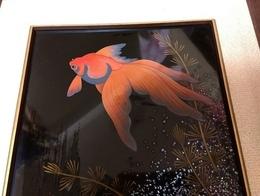 金魚漆螺鈿額