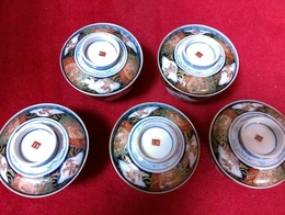 錦の蓋茶碗明治