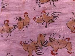 ニワトリ五つ紋紬